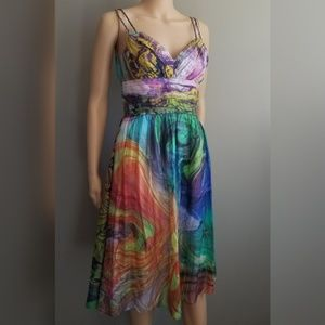 Oleg Cassini Multi color Dress size 2